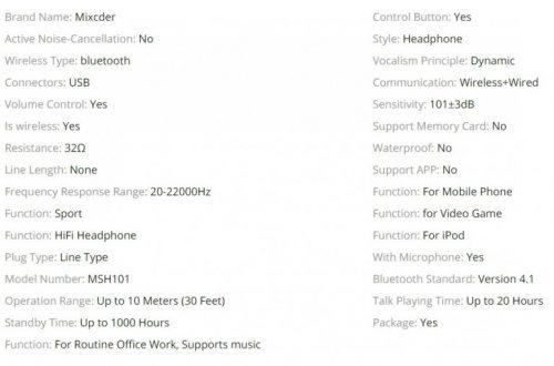 Беспроводные наушники Mixcder MSH101 за $11.57