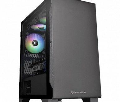 На верхней панели корпуса Thermaltake S100 помещается 200-миллиметровый вентилятор