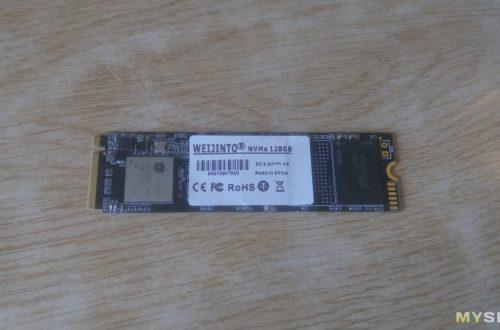 NVME SSD от Weijinto на 128Гб - cамый дешевый nvme'шник на момент покупки