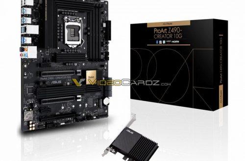 Появилось первое изображение системной платы Asus ProArt Z490 Creator 10G