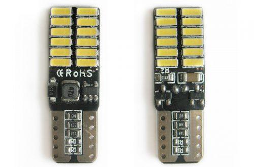 Автомобильные светодиодные лампочки с драйвером, под цоколь W5W