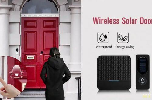 Беспроводной дверной звонок с солнечной батареей и ночником