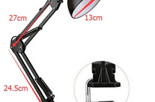 Обзор настольной лампы с привычным дизайном с цоколем E26/E27.