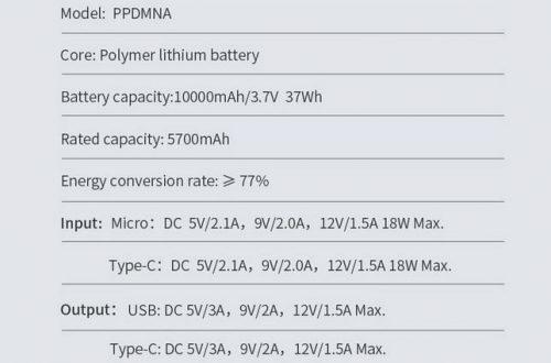 Внешний аккумулятор Baseus 18W 10000mAh Quick Charge 3.0