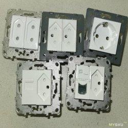 Модули Mosaic для розеток Schneider Unica и Legrand