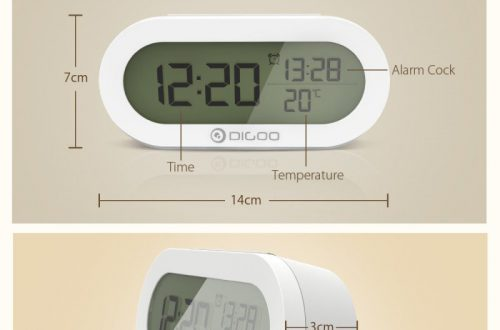Настольные часы-будильник DIGOO DG-AN0471 за $6.99
