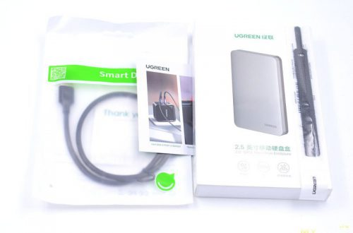 "USB-C 3.1 кейс Ugreen для SATA HDD/SSD 2.5"""