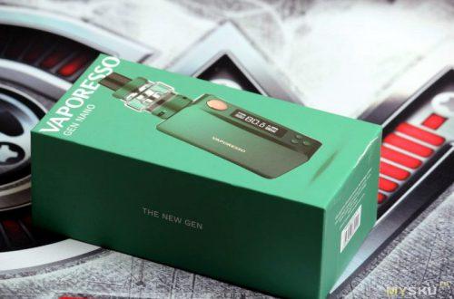 Электронные сигареты: Vaporesso GEN 220W TC Kit и Vaporesso GEN Nano 80W Starter Kit 2000mAh