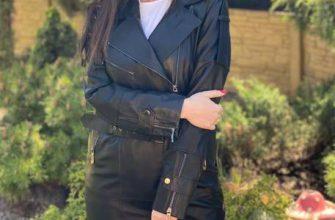 Кожаное пальто модно и актуально по сей день